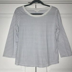 COS 100% cotton 3/4 sleeve striped t-shirt